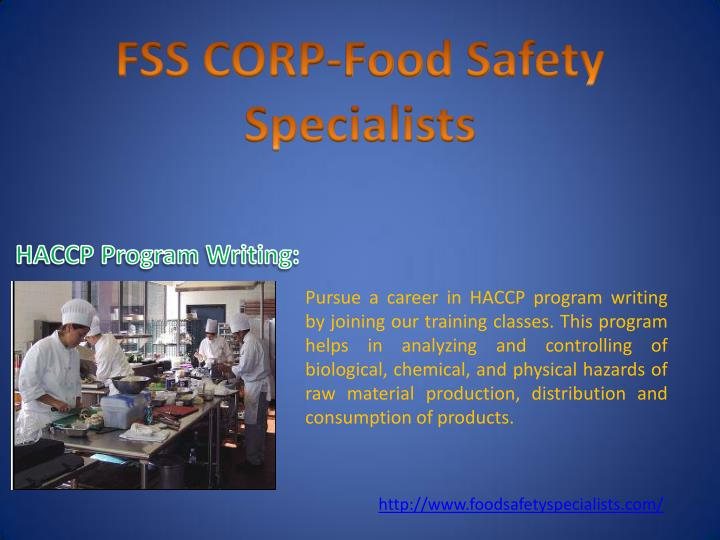 Pursue a career in HACCP program writing