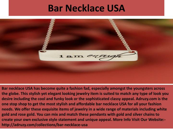 Bar necklace usa