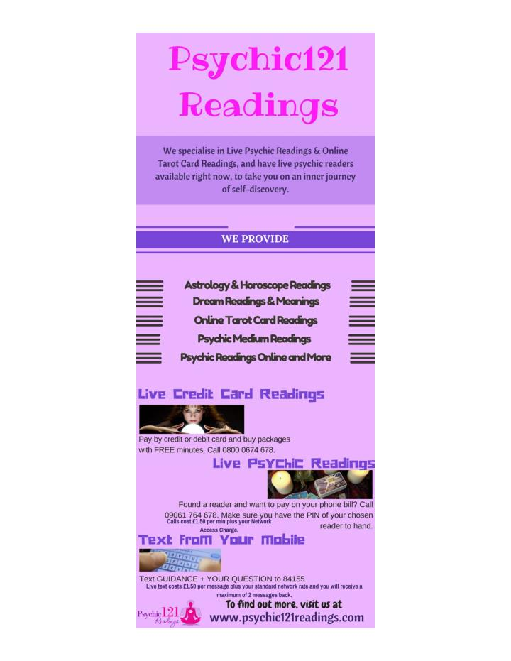 Psychic 121 readings one to one online psychic services