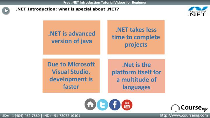 .NET Introduction: what is special about .NET?