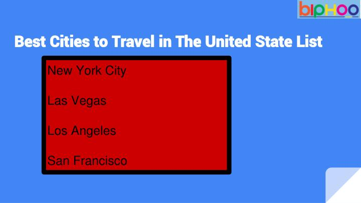 Best cities to travel in the united state list