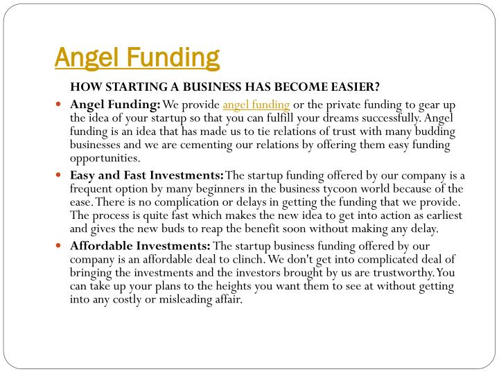 Angel Funding