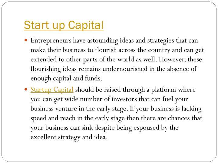 Start up Capital
