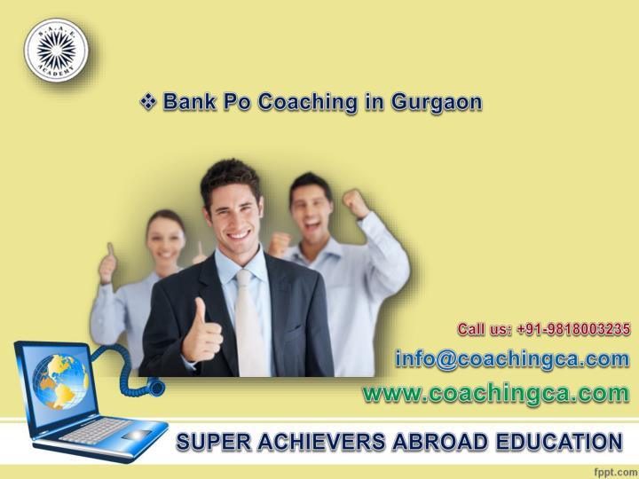 Bank Po Coaching in Gurgaon