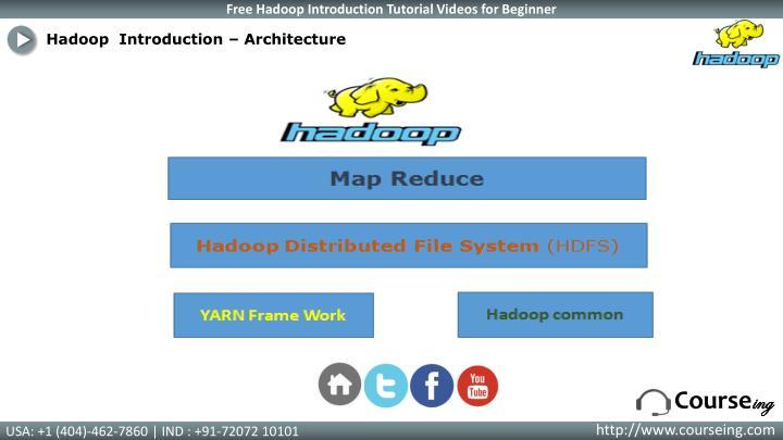 Hadoop  Introduction –
