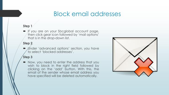 Block email addresses