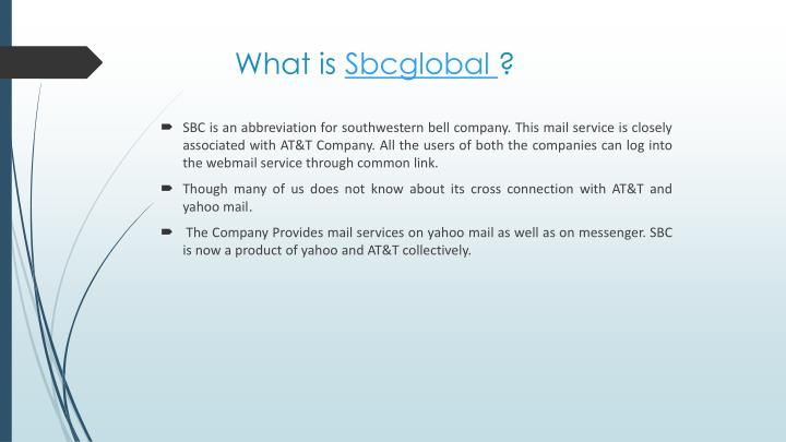 What is sbcglobal