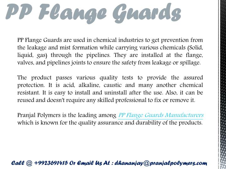PP Flange Guards