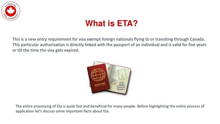What is ETA?