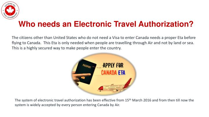 Who needs an Electronic Travel Authorization?