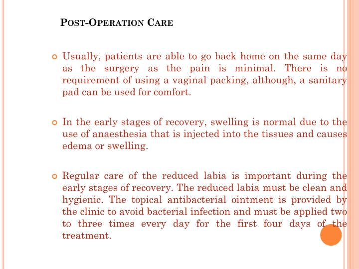 Post-Operation Care