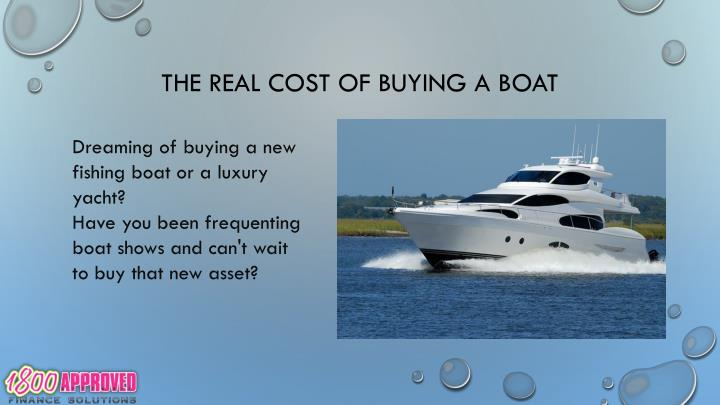 The real cost of buying a boat1