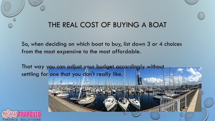 The real cost of buying a boat