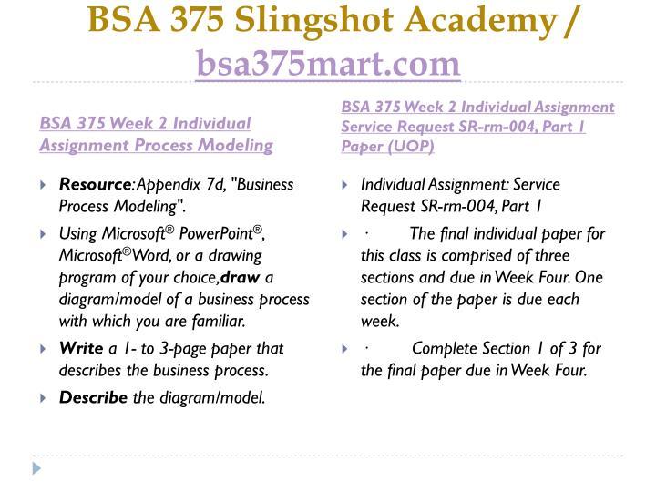 BSA/375 Week 1