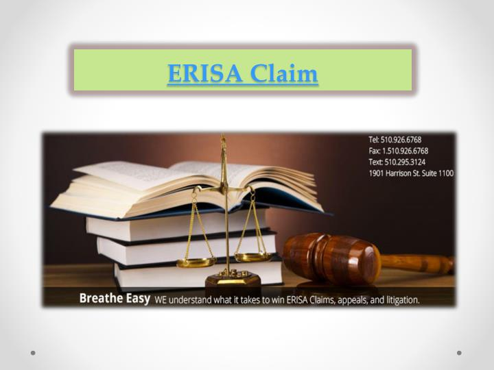 ERISA Claim