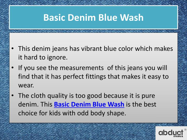 Basic denim blue wash