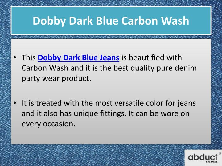 Dobby Dark Blue Carbon Wash