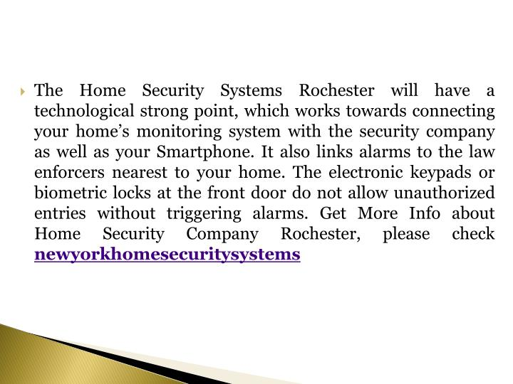 The Home Security Systems Rochester