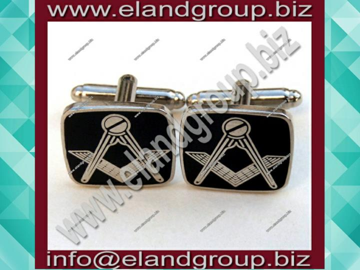 Craft cuff links black metal gilt