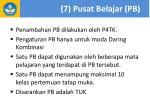 7 pusat belajar pb