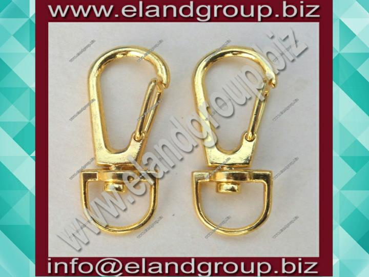Gold swivel clasp hook