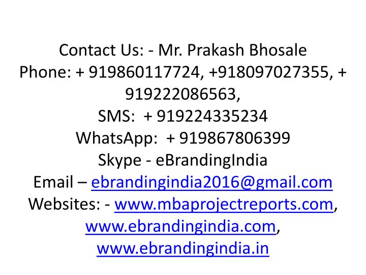 Contact Us: - Mr.