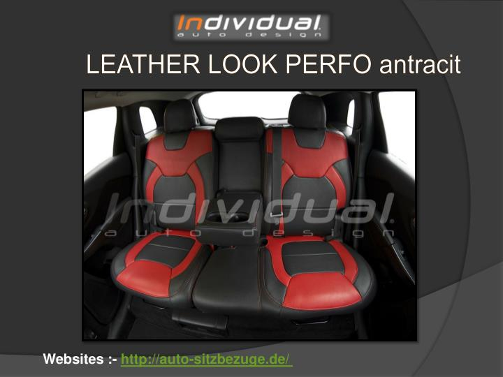 LEATHER LOOK PERFO