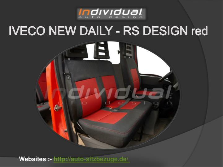 IVECO NEW DAILY - RS DESIGN red