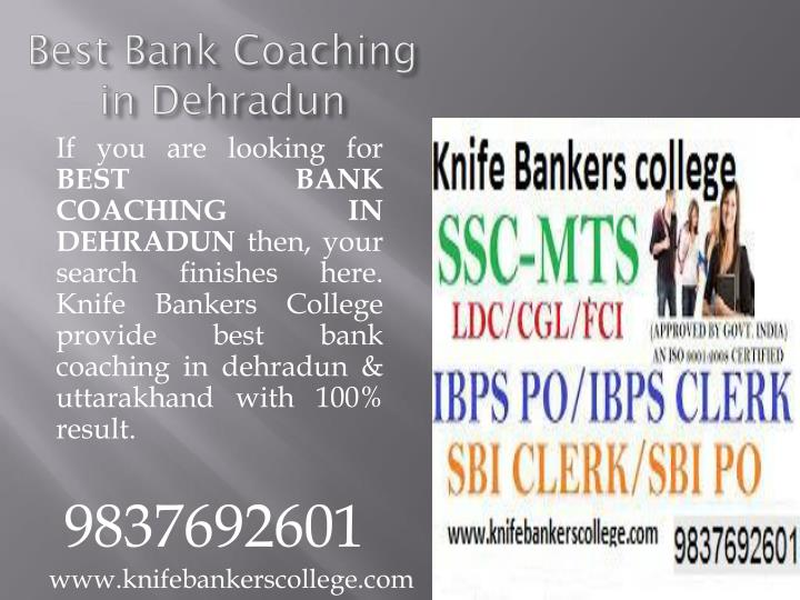 Best bank coaching in dehradun