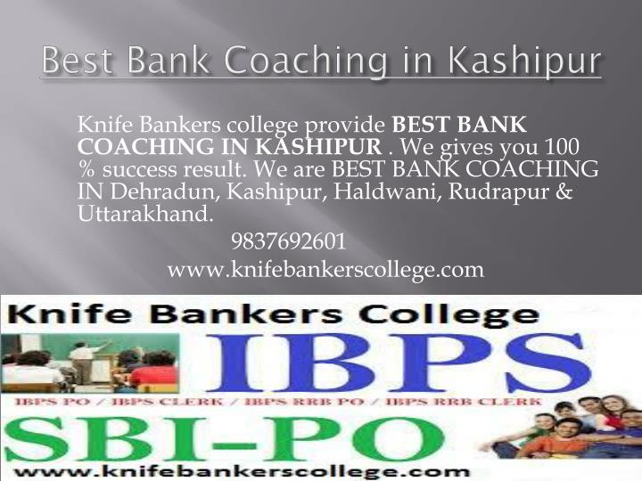 Best bank coaching in kashipur