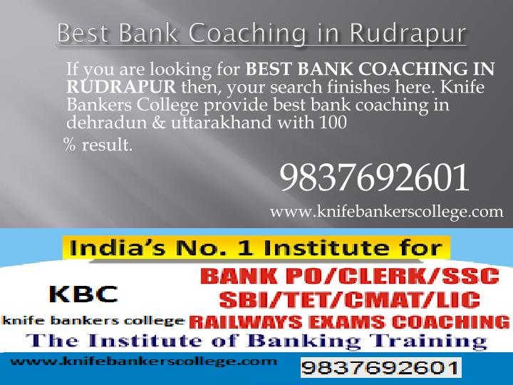 Best Bank Coaching in