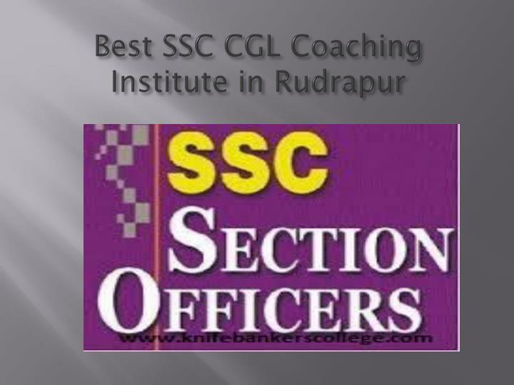 Best SSC CGL Coaching Institute