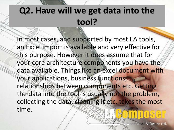 Q2 have will we get data into the tool