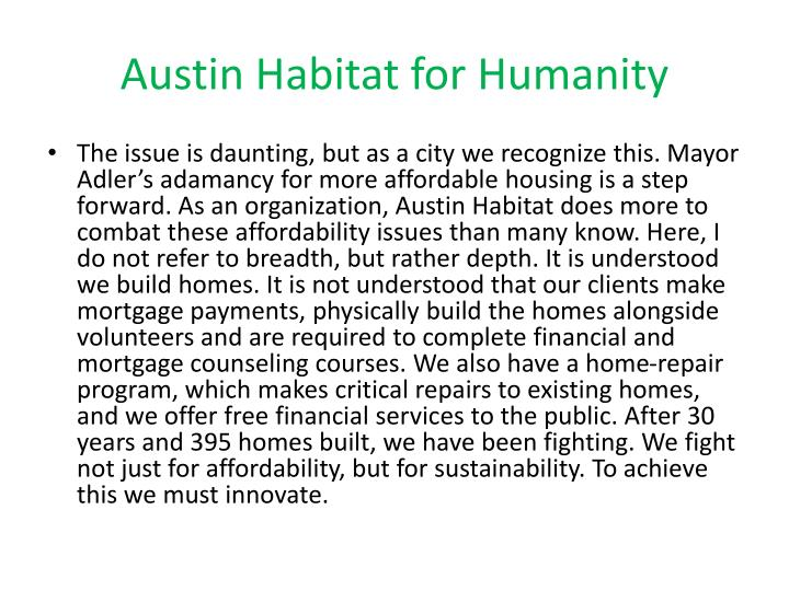 Austin Habitat for Humanity