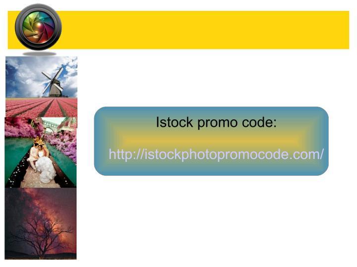 Istock promo code: