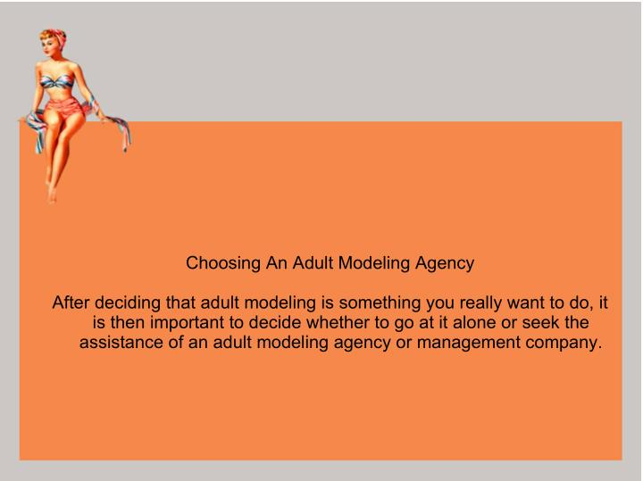 Choosing An Adult Modeling Agency