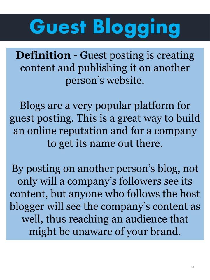 Guest Blogging