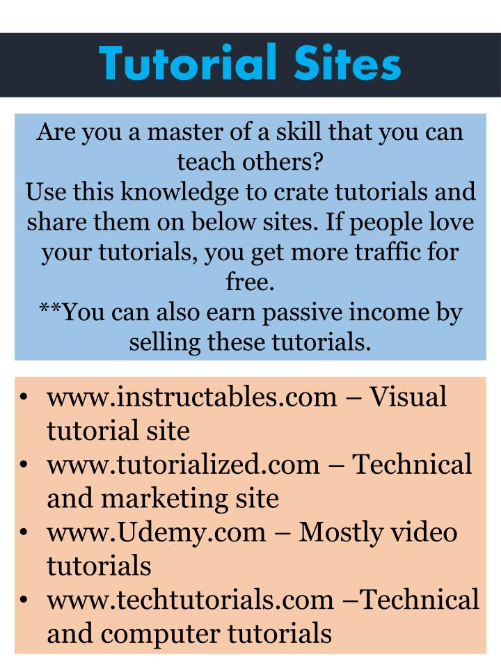 Tutorial Sites
