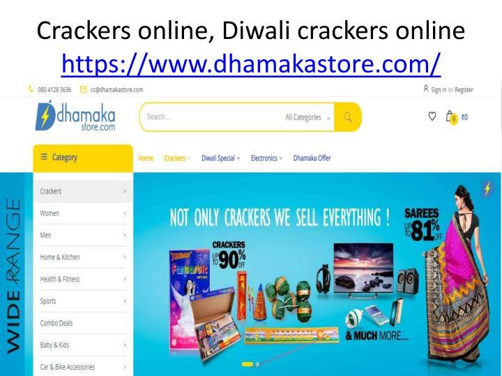Crackers online, Diwali crackers online