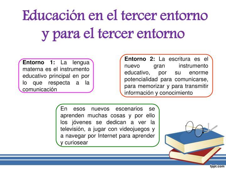 Educación en el tercer