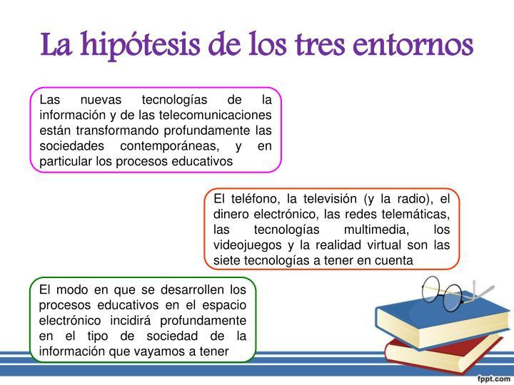 La hipótesis de los tres entornos