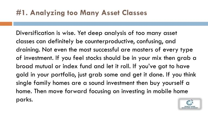 #1. Analyzing too Many Asset
