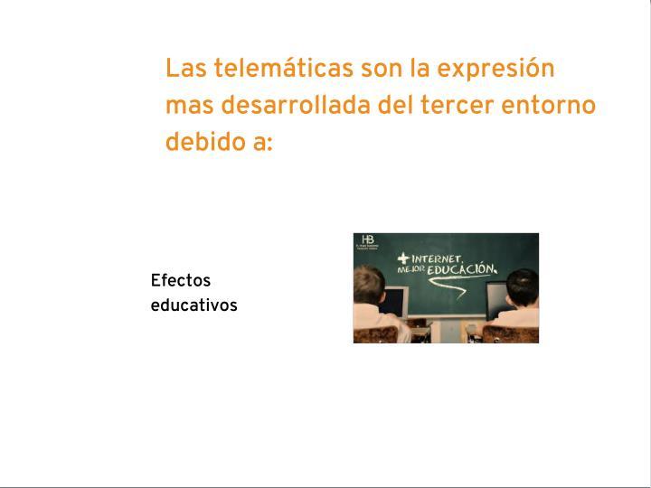Las telemáticas son la expresión