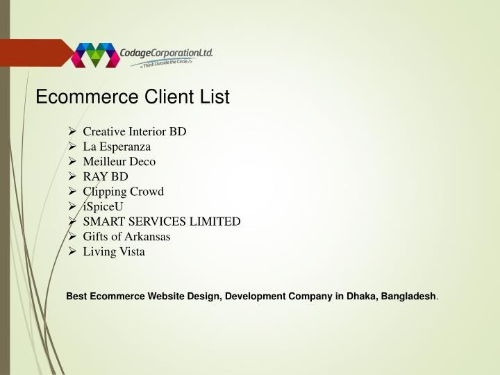 Ecommerce Client List
