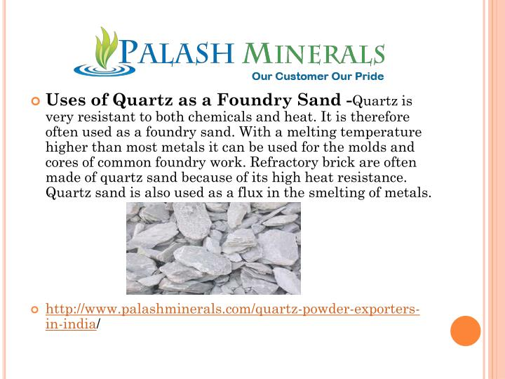 Uses of Quartz as a Foundry Sand