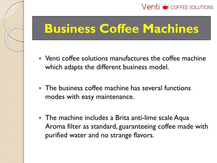 Business Coffee Machines