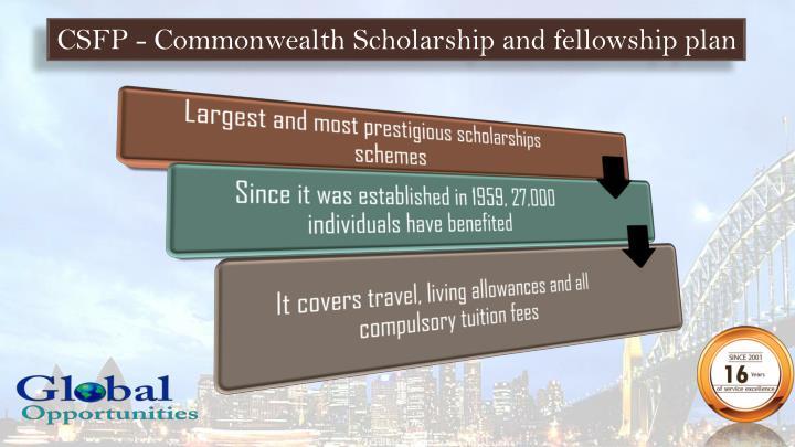CSFP - Commonwealth Scholarship and fellowship plan