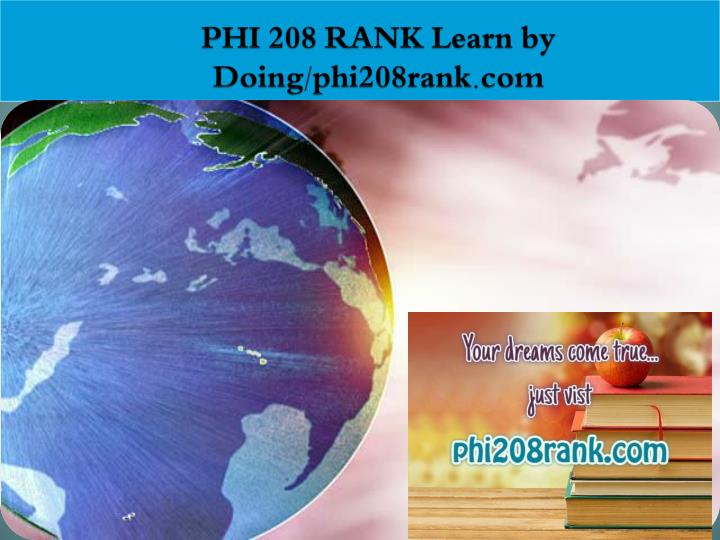 Phi 208 rank learn by doing phi208rank com