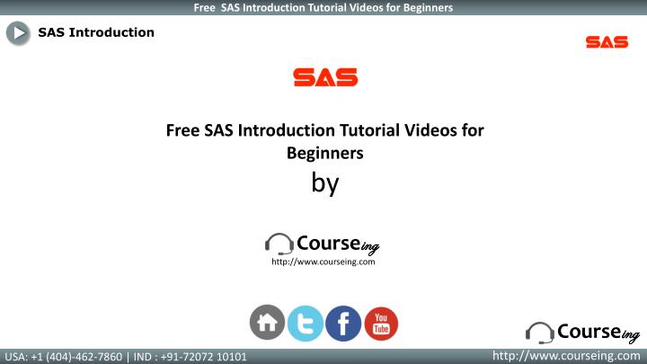 SAS Introduction