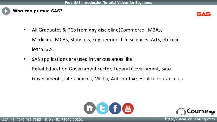 Who can pursue SAS?